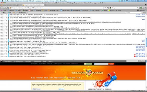 Mozilla Firefox 4 - Web-Konsole