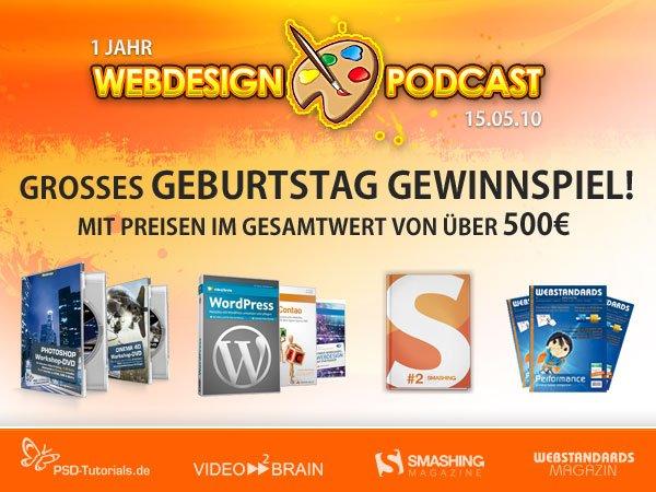 Webdesign Podcast Geburtstags-Gewinnspiel