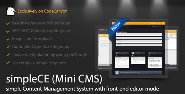 simpleCE (mini CMS) auf CodeCanyon