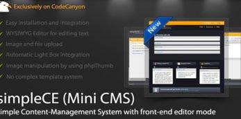 simpleCE (mini CMS) Workshop