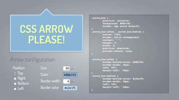 CSS3 Speech Bubble Generator: CSS Arrow Please!