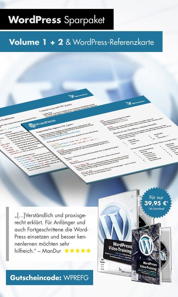 WordPress-Trainings im Doppelpack extrem reduziert