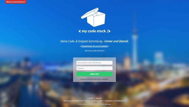 my code stock.com - Deine Code- & Snippet-Sammlung - immer und überall.