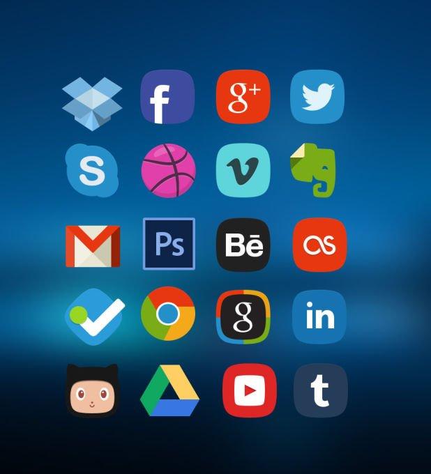 10 kostenlose Social-Media Icon-Sets für deine Webseite