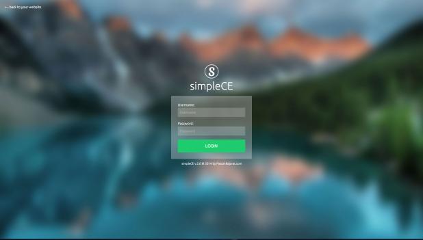 simpleCE - Login