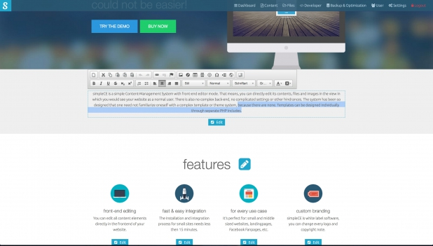 simpleCE - Frontend-Editing