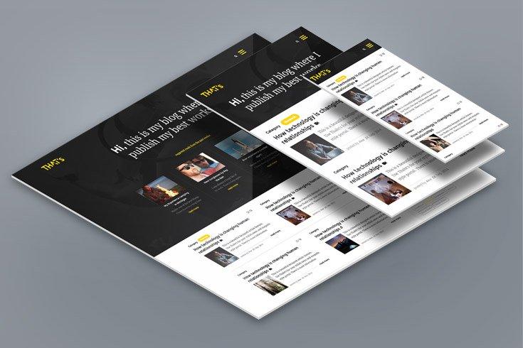 Responsive Webseiten Mockup