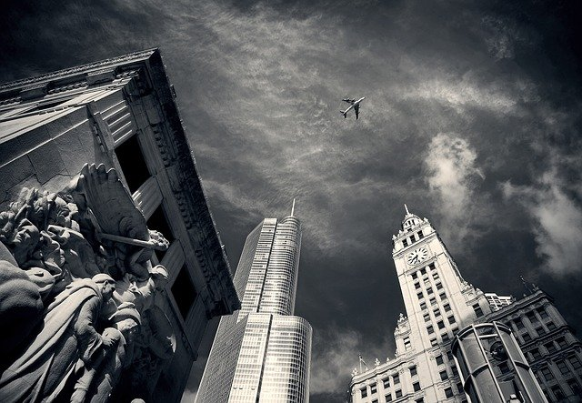 Himmel über Chicago