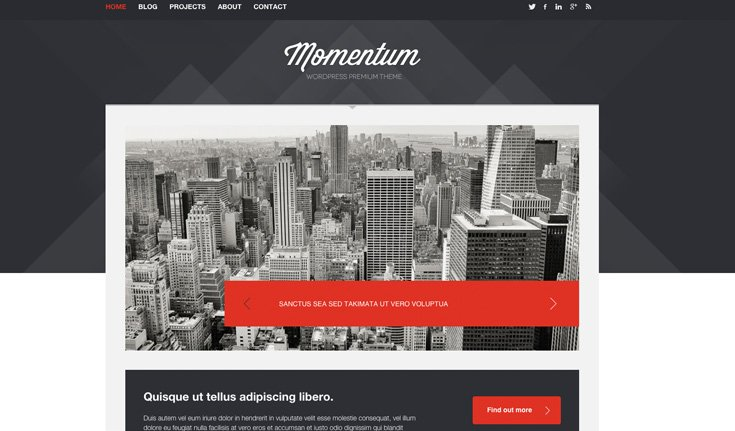 Momentum WordPress template