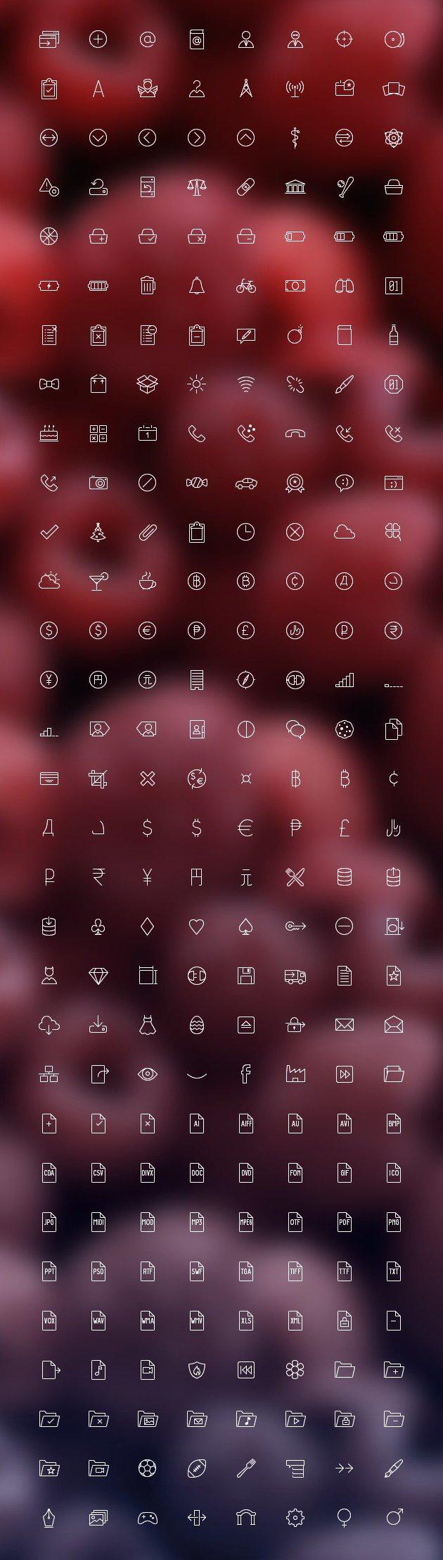 12.000 Line-Icons Megapack zu den verschiedensten Themen