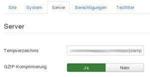 Komprimierung in Joomla! aktivieren
