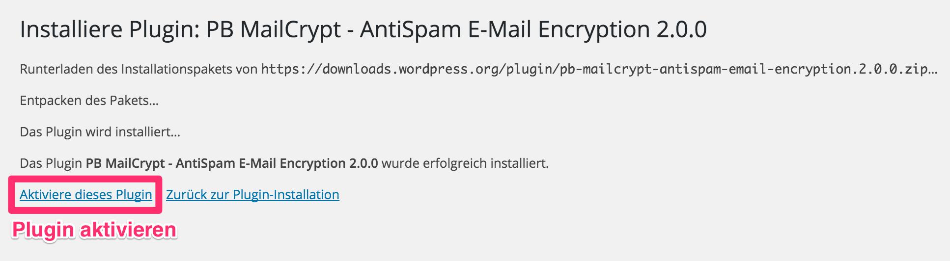 MailCrypt aktivieren
