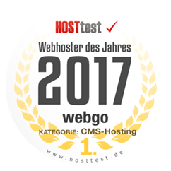 Webgo ist Webhoster des Jahres bei Hosttest